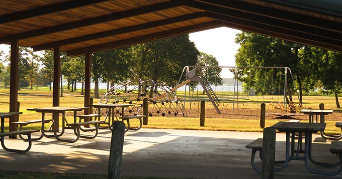 Parks & Recreation pavilions and tables