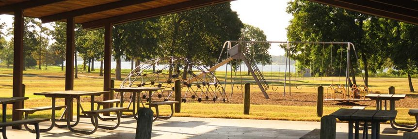 Parks and Recreation pavilions and tables